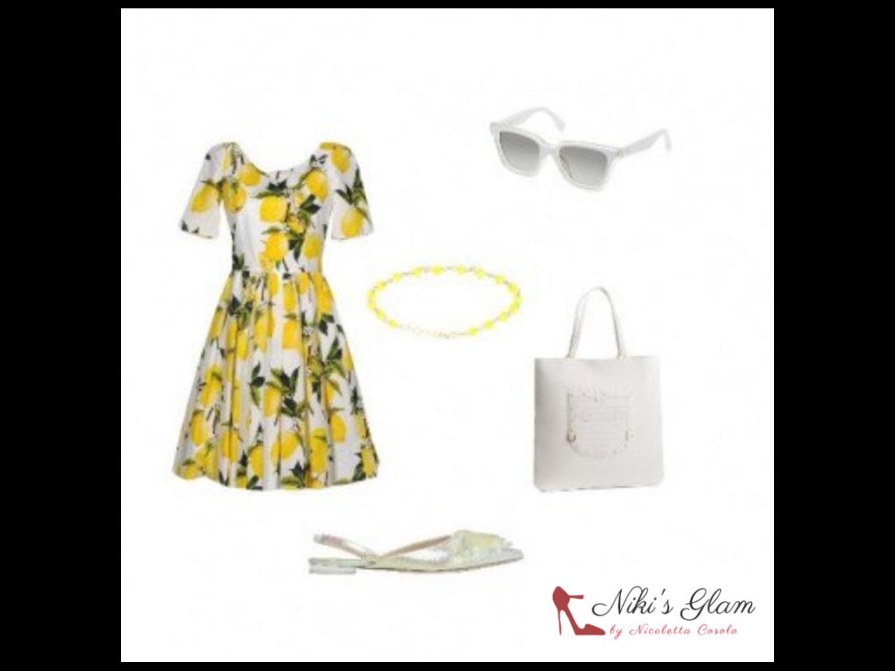 Lemon total look a Sorrento- Niki's Glam Blog