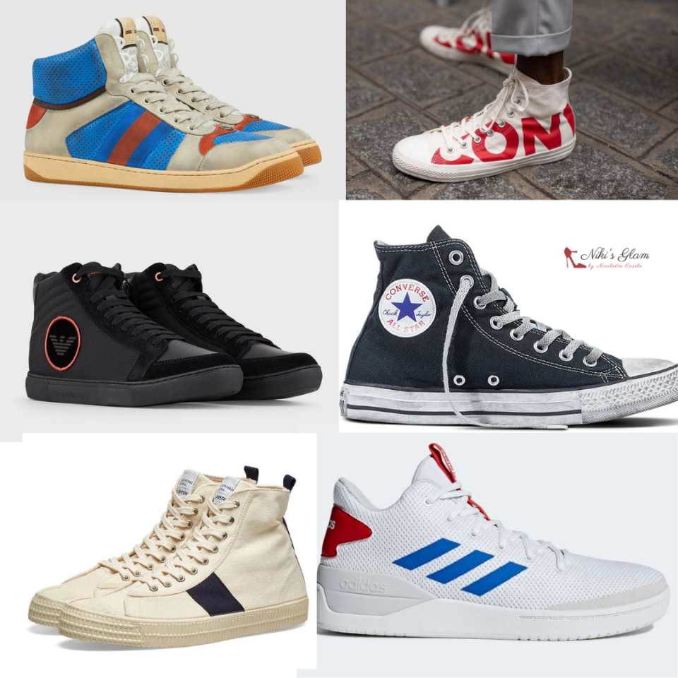 Men's high top sneakers Niki's Glam Blog